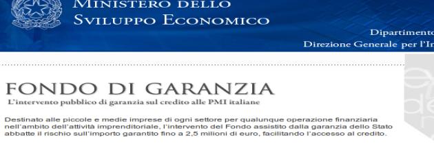 """Istituito il """"Fondo di Garanzia"""" sul credito alle PMI"""
